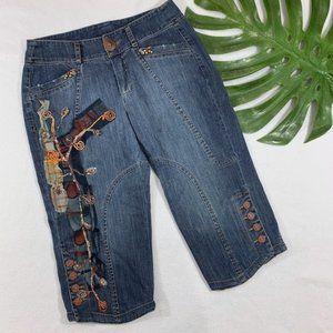Unique Designer Capri Jeans - Artist Marco Fantini
